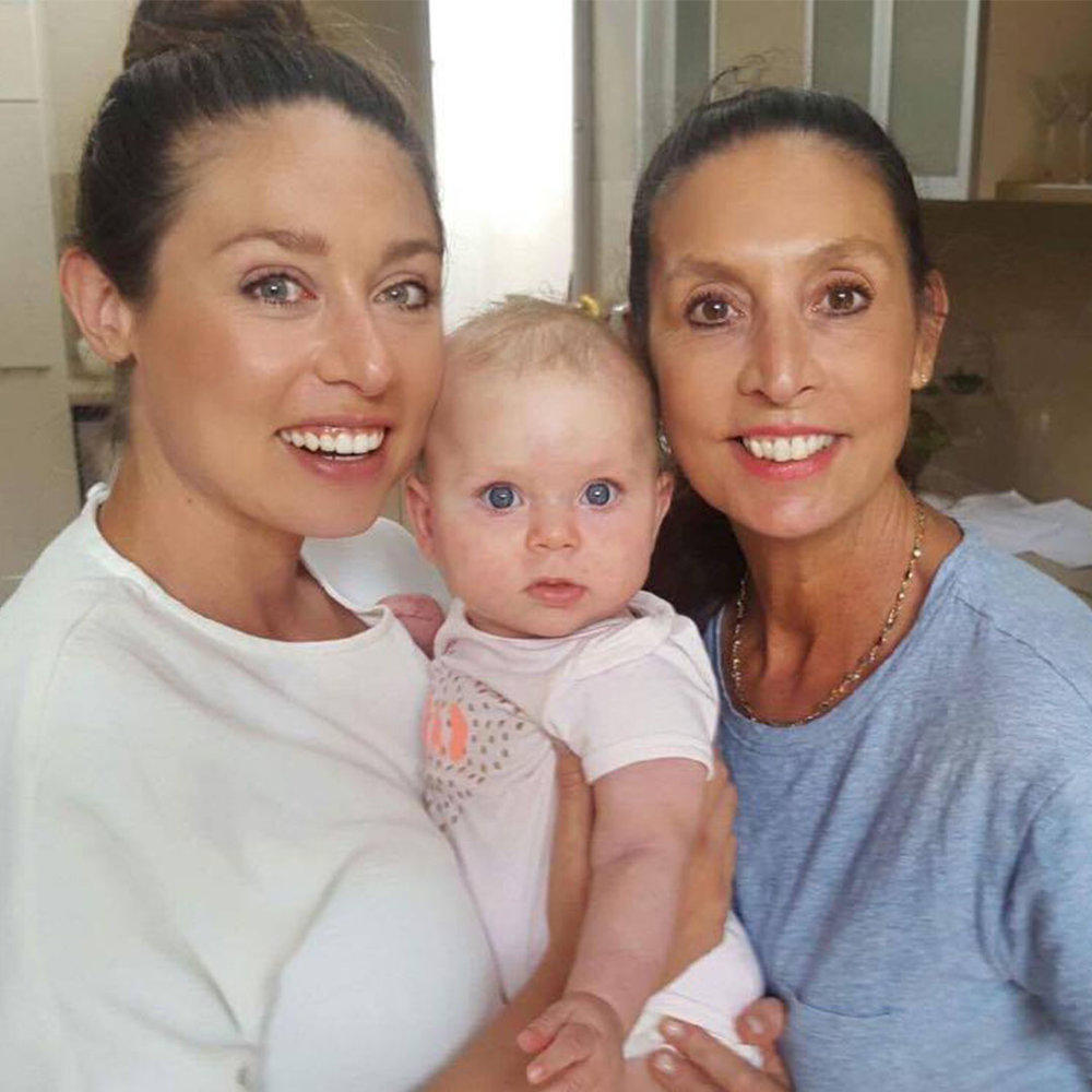 """I'm so thankful for my support network... I'm very close with my Mum""  Jess with her beautiful daughter Gigi, and one of her biggest supporters, her Mum."