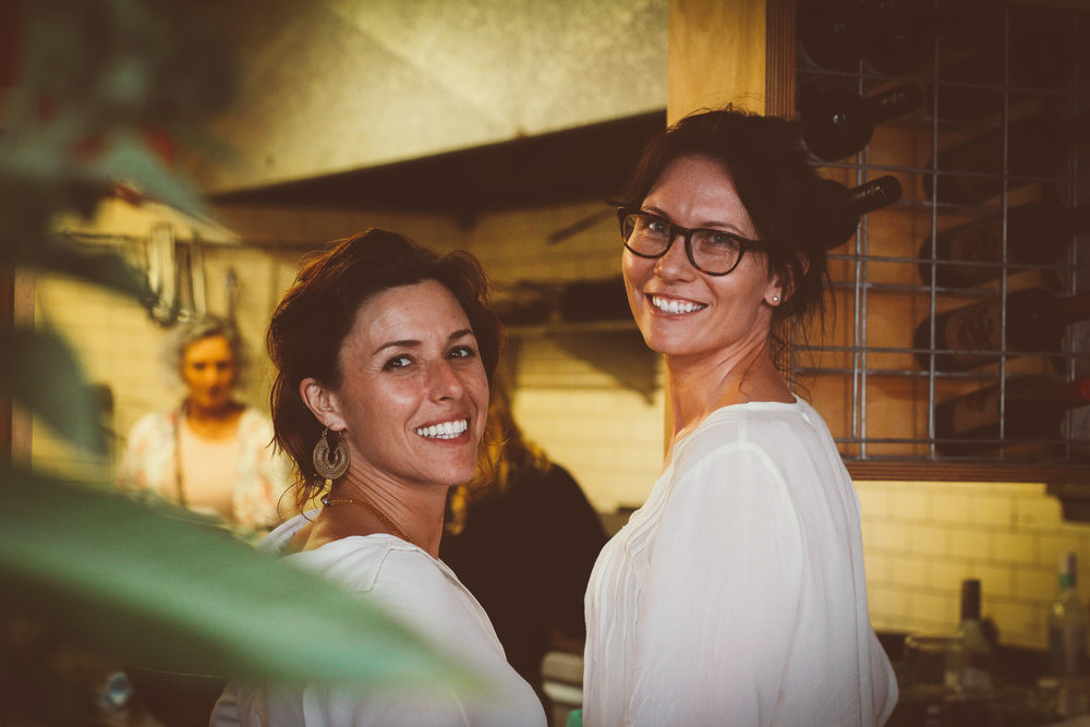 Whole Living Founders, Anamari Becker (left) and Jen Parker - a perfect pairing.