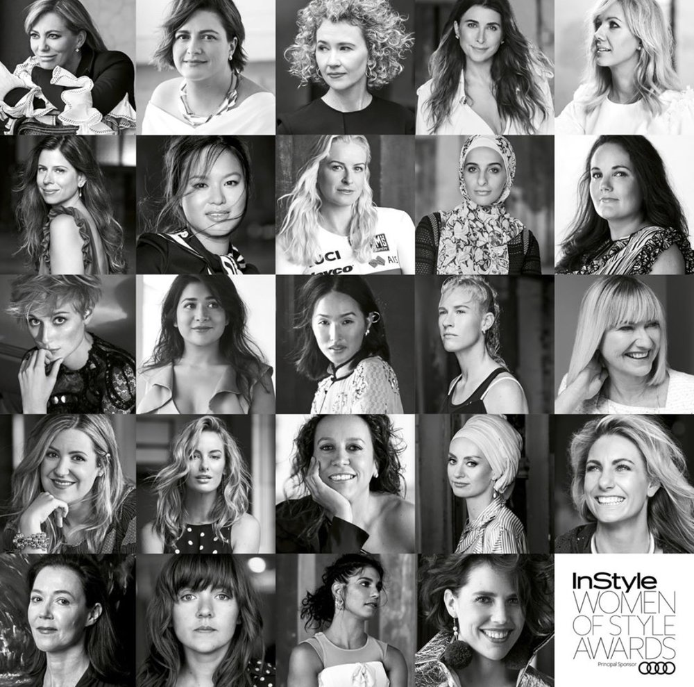 Some of the nominees in the 2017 INSTYLE Women of Style Awards.