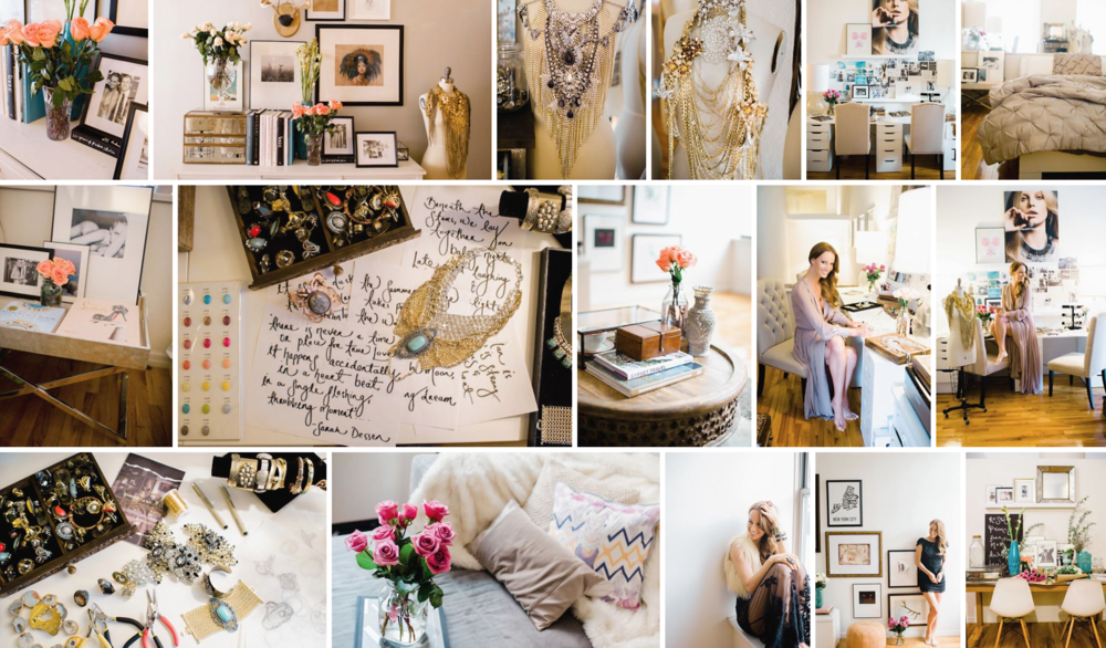2013: A collection of images from my NYC home & workspace, that was featured in GLITTER GUIDE- SO. MUCH. FU#KING. STUFF!!!! - I truly don't know how I worked in this space (obviously i did!) but looking at it now makes me feel claustrophobic! - You can view all the images HERE