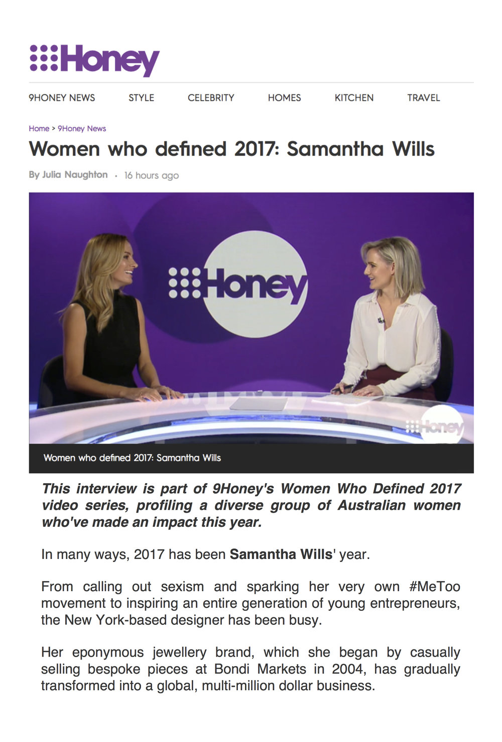 VIDEO: https://honey.nine.com.au/2017/12/05/14/58/samantha-wills-women-who-defined-2017