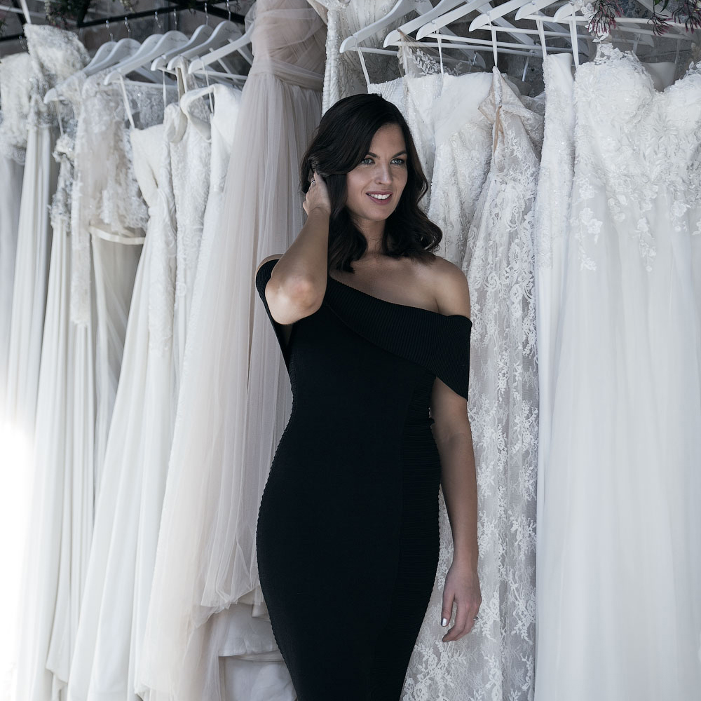 Wedding dress designer and founder of Moira Hughes Couture, Moira Hughes.