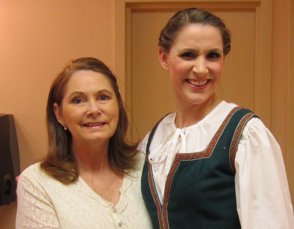 "With my always supportive Mom back stage at Anchorage Opera's ""The Sound of Music"""