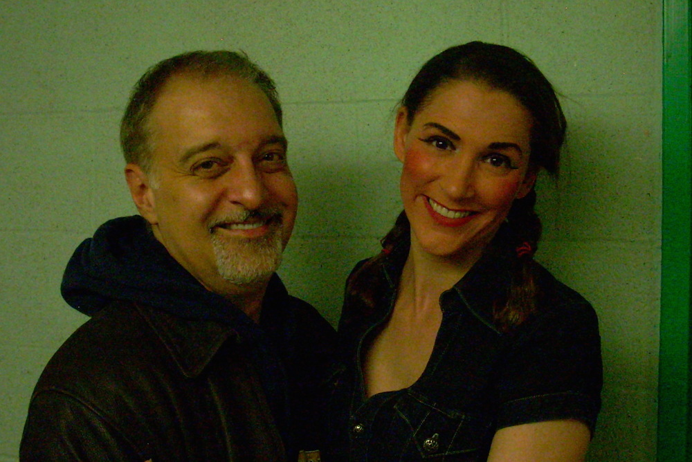 "With Maestro Richard Carsey after Syracuse Opera's ""The Mikado"""