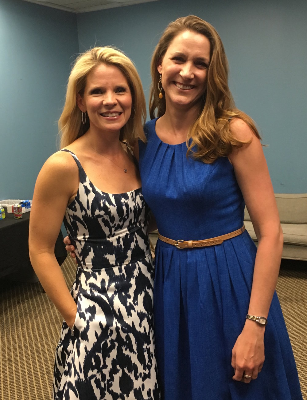 With friend and roomie from undergrad, Kelli O'Hara