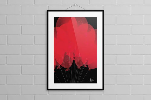 99 Luft Balloons Poster Posters Dennis Hicks Design Co