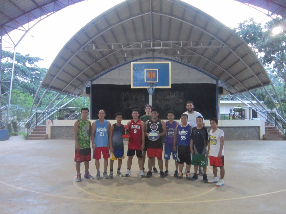 This is one of the teams from last year's basketball clinic in Davao City, Philippines.