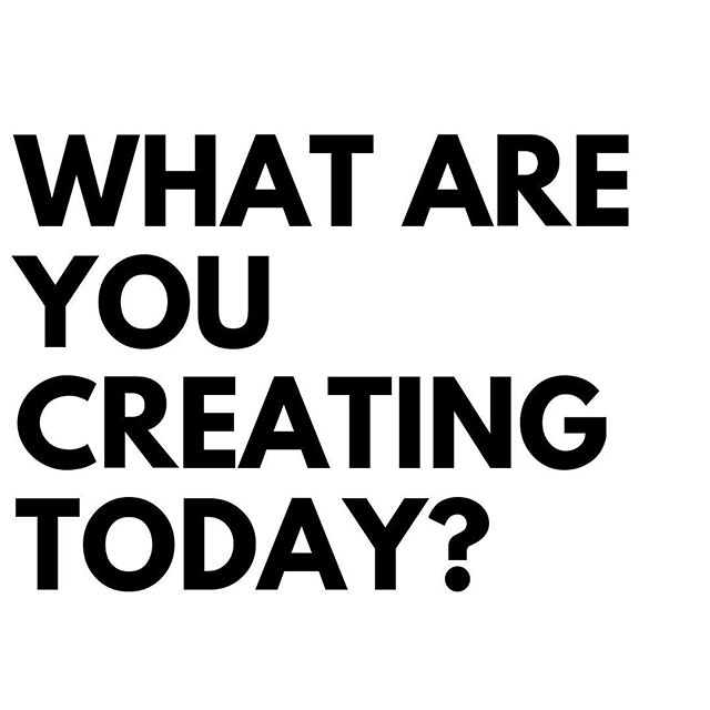 WHAT ARE YOU CREATING TODAY?  Are you working on a course?  Launching a new physical product?  Are you writing a book?  Comment below and tell us what you are creating today.