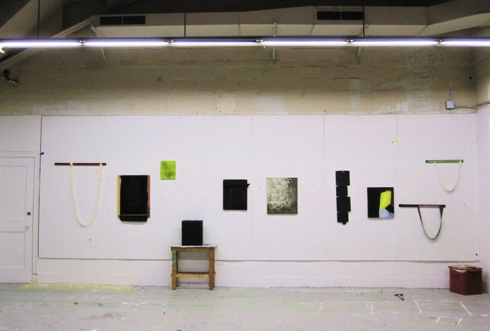 An installation shot of ten pieces taken at Rhode Island School of Design in 2010