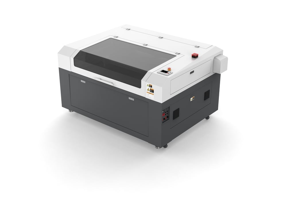 SP13009S - High capacity CO2 laser Ideal for any application. the SP-13009S features a working area of 1.3m by 0.9m and laser power upto130watts. Additional options available