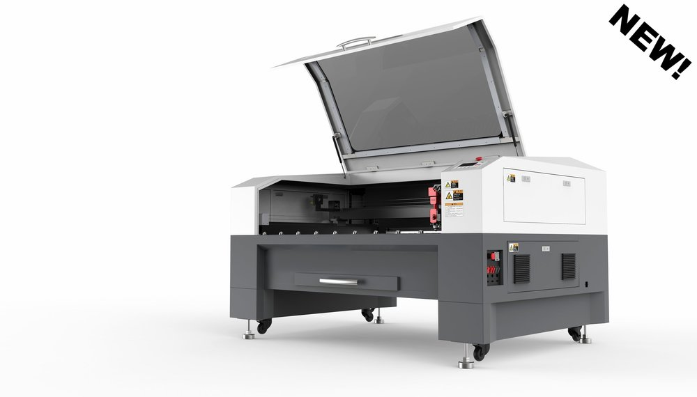 SP-13009SM - The SP-13009SM is one of our most capable machines. The SP-13009SM is able to process metal and non-metal material for both cutting and engraving processes.