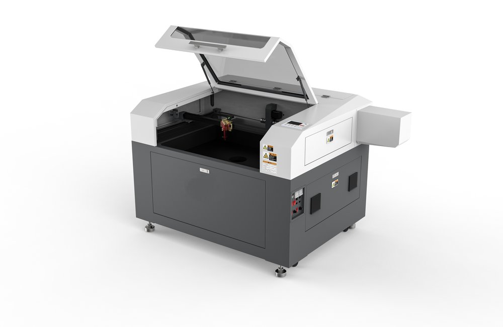 SP-9006S - One of Spark Laser's most popular modes, the SP-9006S provides the capabilities of a large machine in a smaller footprint. featuring a working area of 90cm by 60cm and can fit up to 100watt laser system. Additional accessories available.