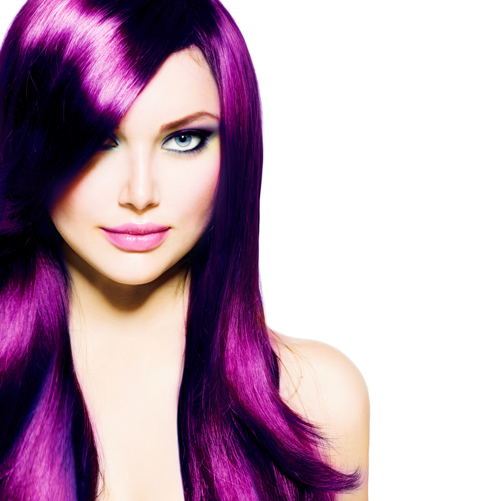 Shiny Purple Hair