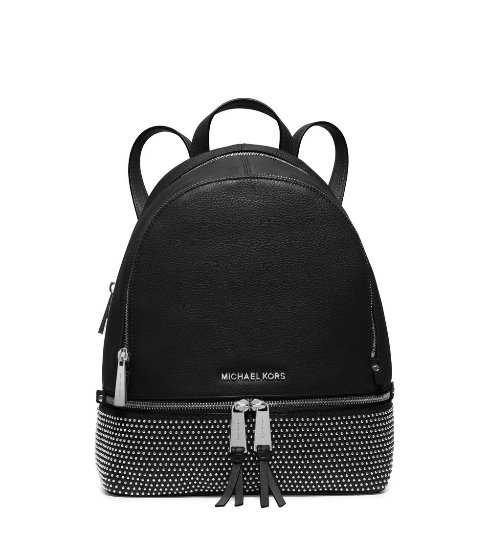 Rhea Zip Small Micro Studded Leather Backpack