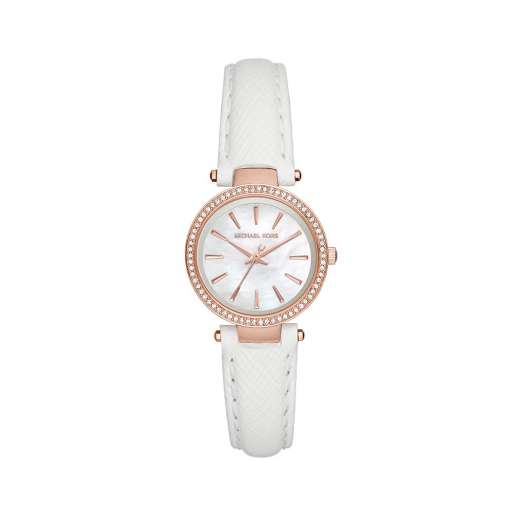 Petite Darci Rose Gold Tone Leather Watch