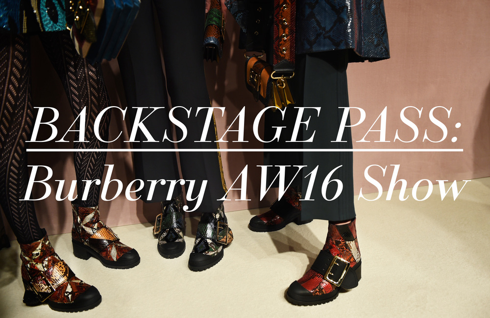 Backstage Pass: Burberry AW16 Show
