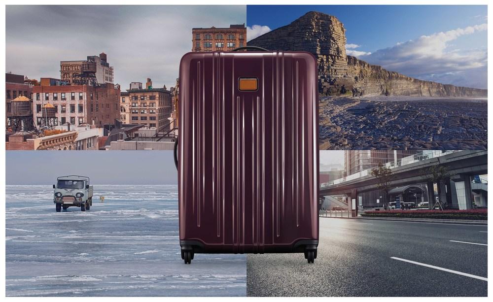 TUMI V3 Suitcase in merlot