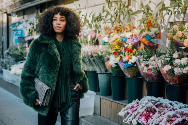 "Solange Knowles in ""The Walk"". Photo: Tommy Ton/Michael Kors"