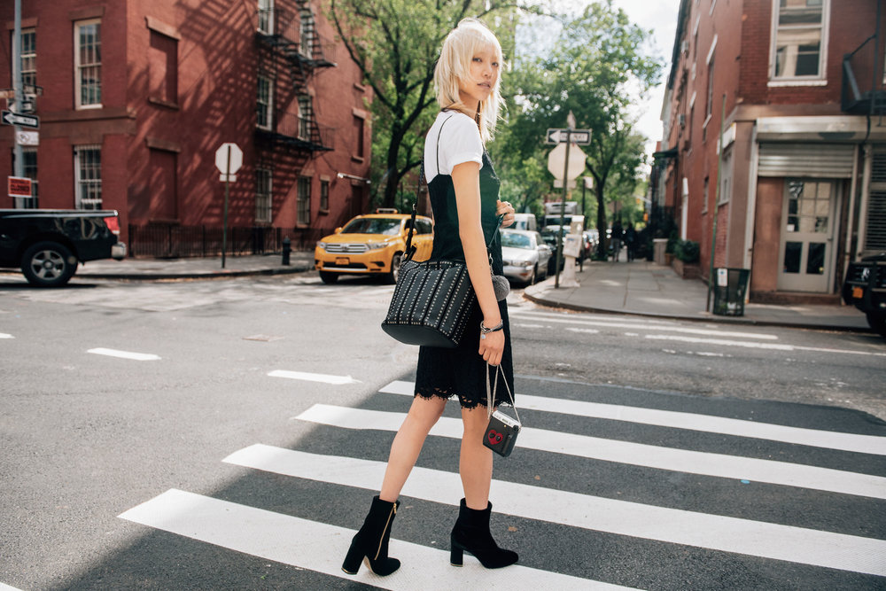 "Soo Joo Park in ""The Walk"". Photo: Tommy Ton/Michael Kors"