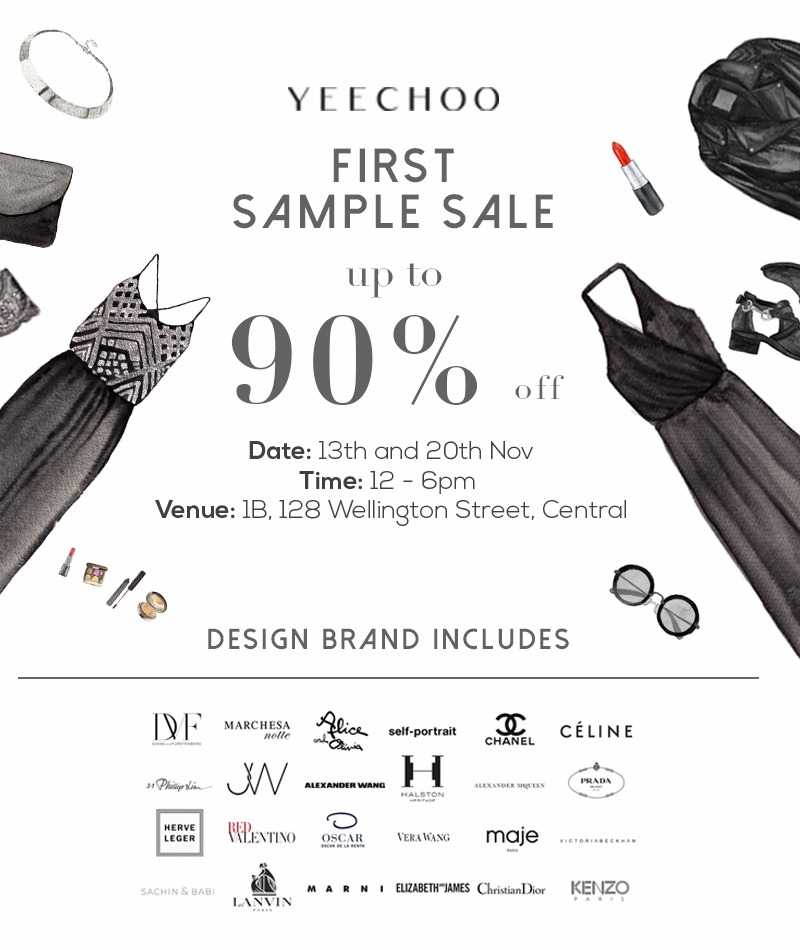 YEECHOO First Sample Sale