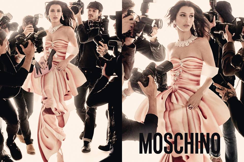 Gigi and Bella Hadid by Steven Meisel for Moschino SS17