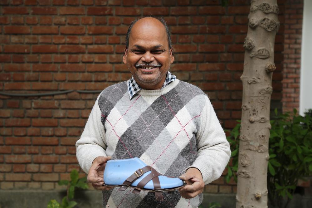 Meet Zafar, shoe lasting expert.