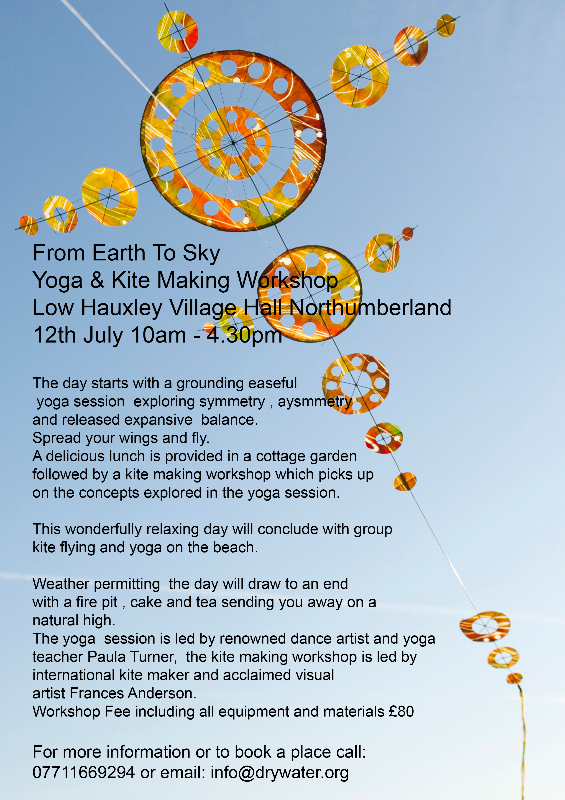 Yoga and Kite Making Workshop, Hauxley, Northumberland