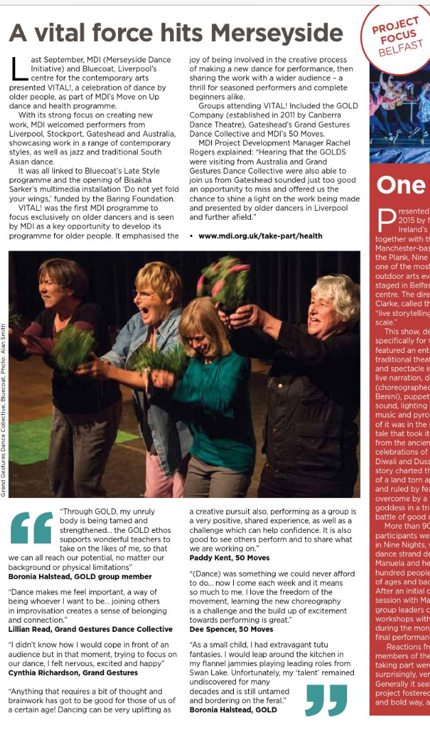 Participate Magazine Article about Grand Gestures