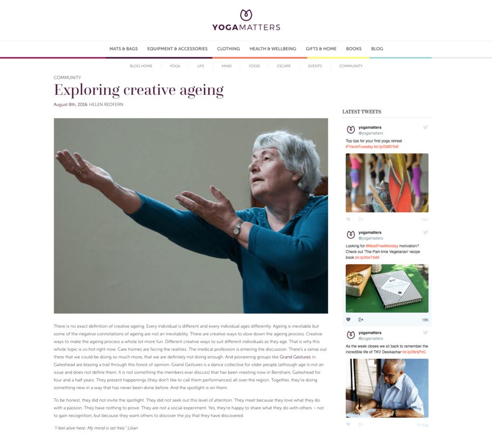 Article on Yogamatters.com blog