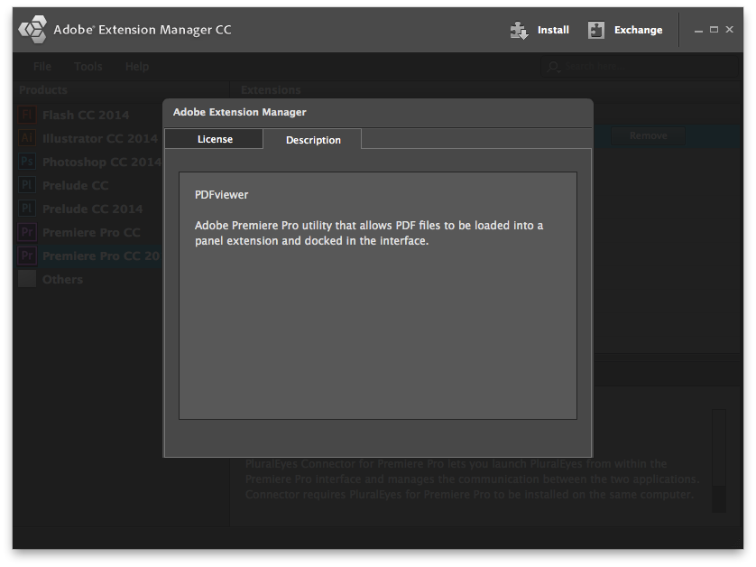 Use Adobe Extension Manager for Premiere Pro CC 2014 installation