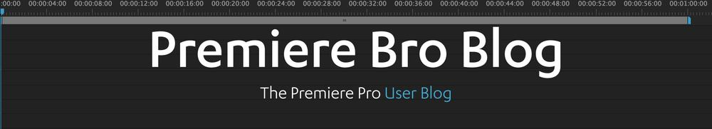 The Premiere Pro user blog