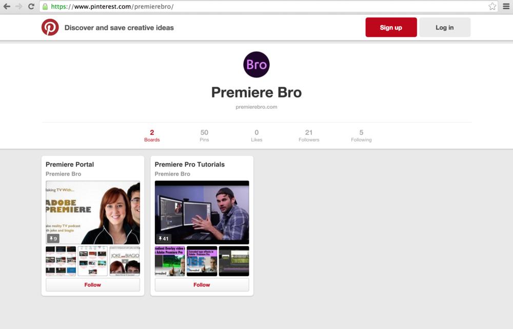 Premiere Bro Pinterest