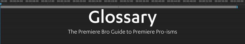 Premiere Bro glossary