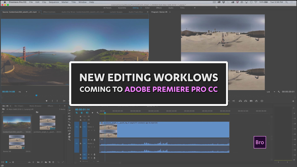The next release of Premiere Pro CC is all about workflows. This post digs into the highlights of what's coming next to Adobe Premiere Pro CC.