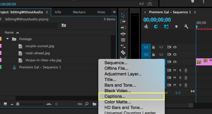 How to edit open captions in premiere pro cc 20153 premiere bro captions premiere pro ccuart Images