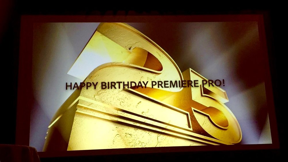The 25th anniversary of Adobe Premiere Pro. Photo by Sean Schools.
