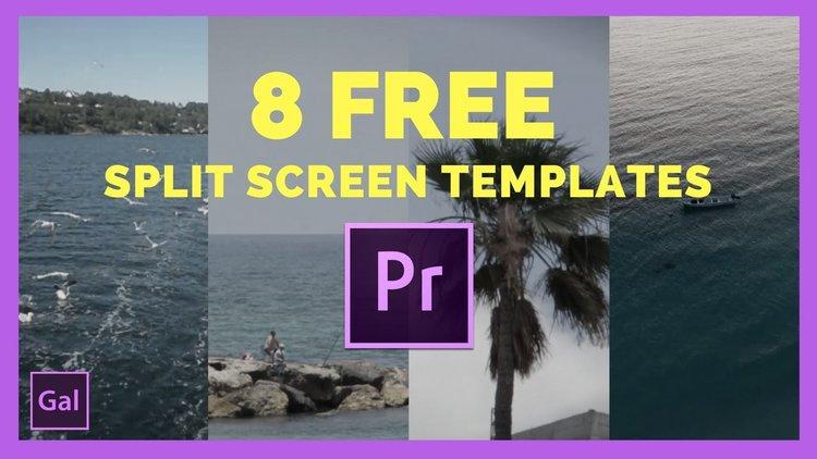 premiere gal free split screen templates for premiere pro