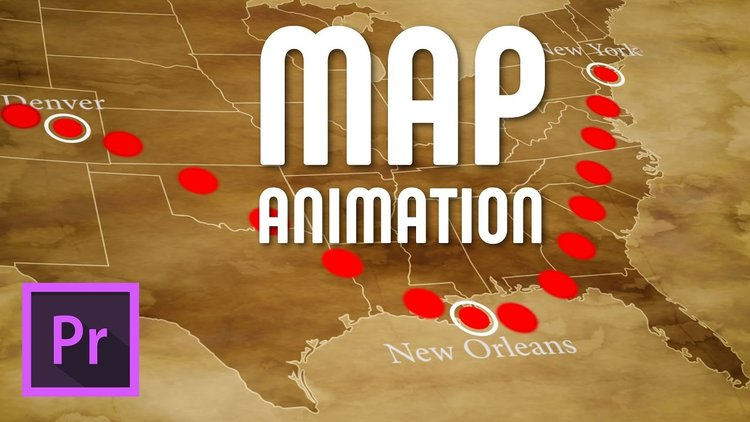 learn how to create an animated dotted travel line on a map in adobe premiere pro normally i would make these kind of animations in after effect
