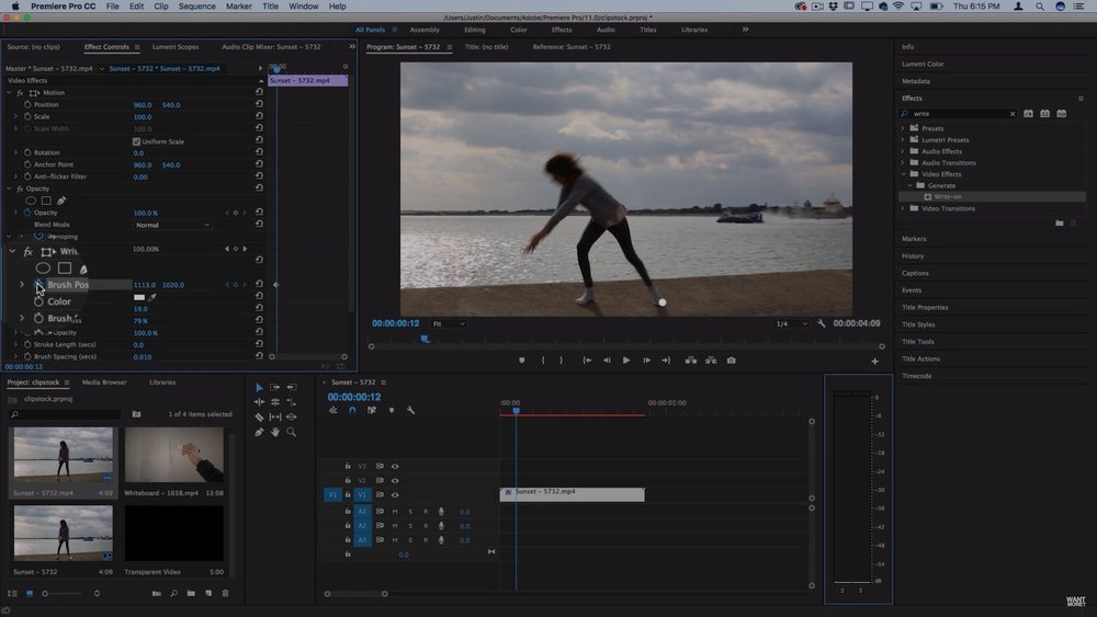 Justin odisho how to scribble animation write on line effects in keyframe the brush position to animate the write on effect in premiere pro ccuart Image collections