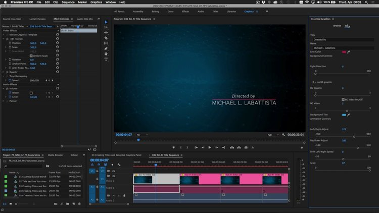 find all the controls you need to create and edit templates in the april 2017 release of premiere pro cc apply titles shapes and other items in the