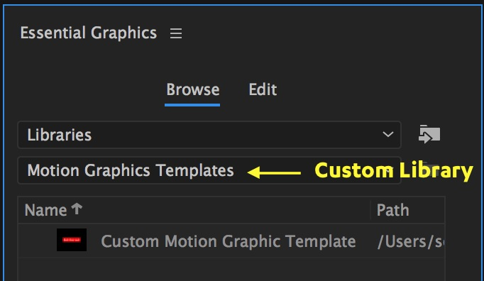 Motion Graphics Template Workflow In After Effects And Premiere Pro - Premiere pro motion graphics templates