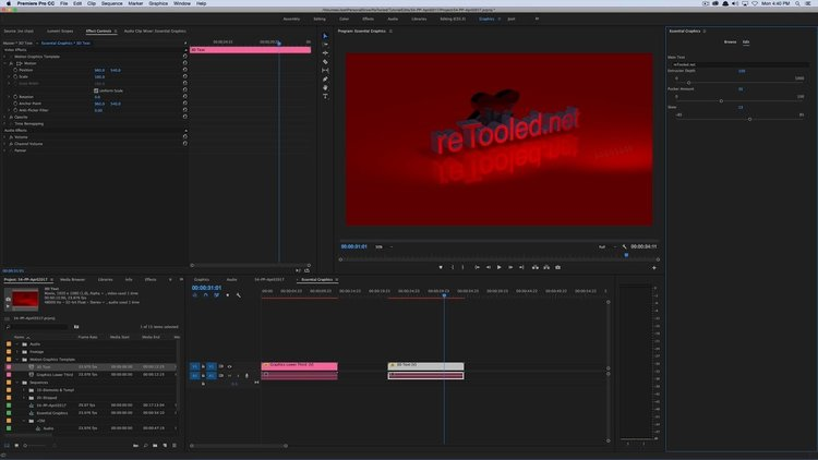 Motion Graphics Template Workflow in After Effects and Premiere Pro ...