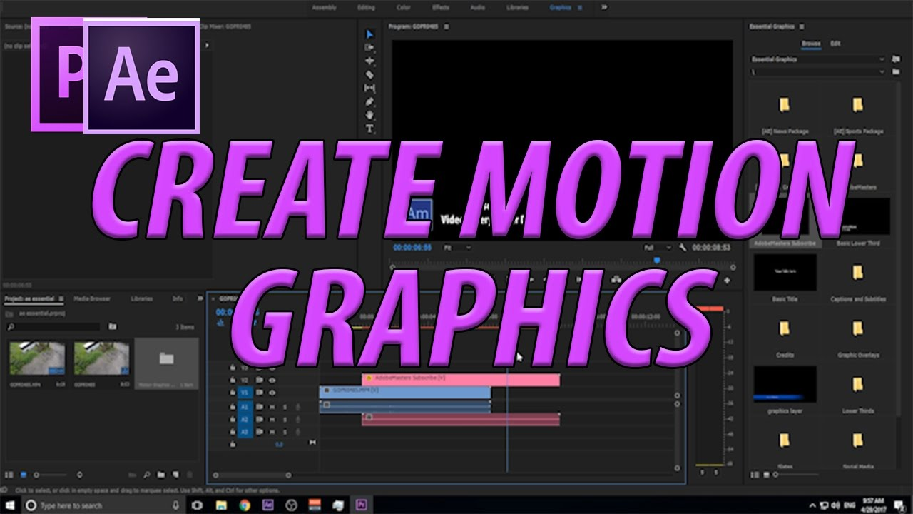 AdobeMasters: How to Create Motion Graphics Templates with Essential