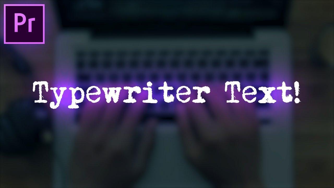 justin odisho typewriter text effect animation in premiere pro