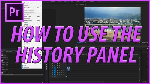 Premiere in post premiere bro adobemasters how to use the history panel in adobe premiere pro spiritdancerdesigns Gallery