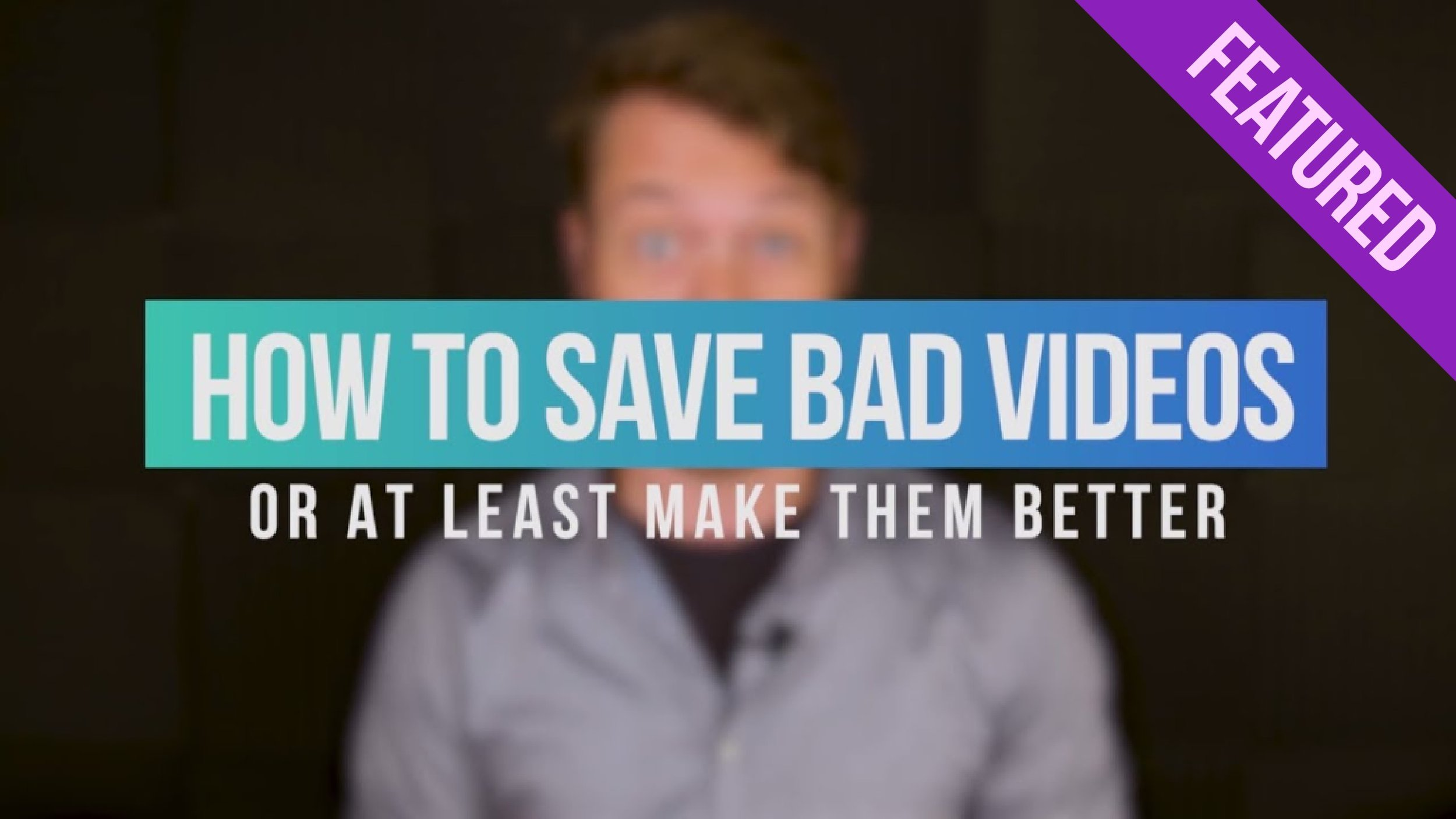 Motion Array: How to Make Bad Videos Look Good in Premiere Pro