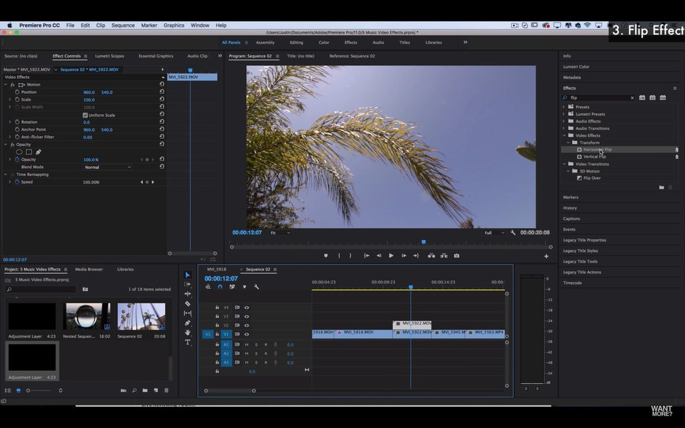 Justin Odisho 5 Music Video Editing Effects In Adobe Premiere Pro