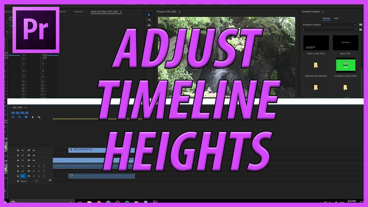 AdobeMasters: How to Adjust Track Heights in Adobe Premiere Pro