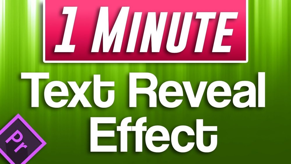 Adobe in a Minute: How to do Easiest Text Reveal Effect in