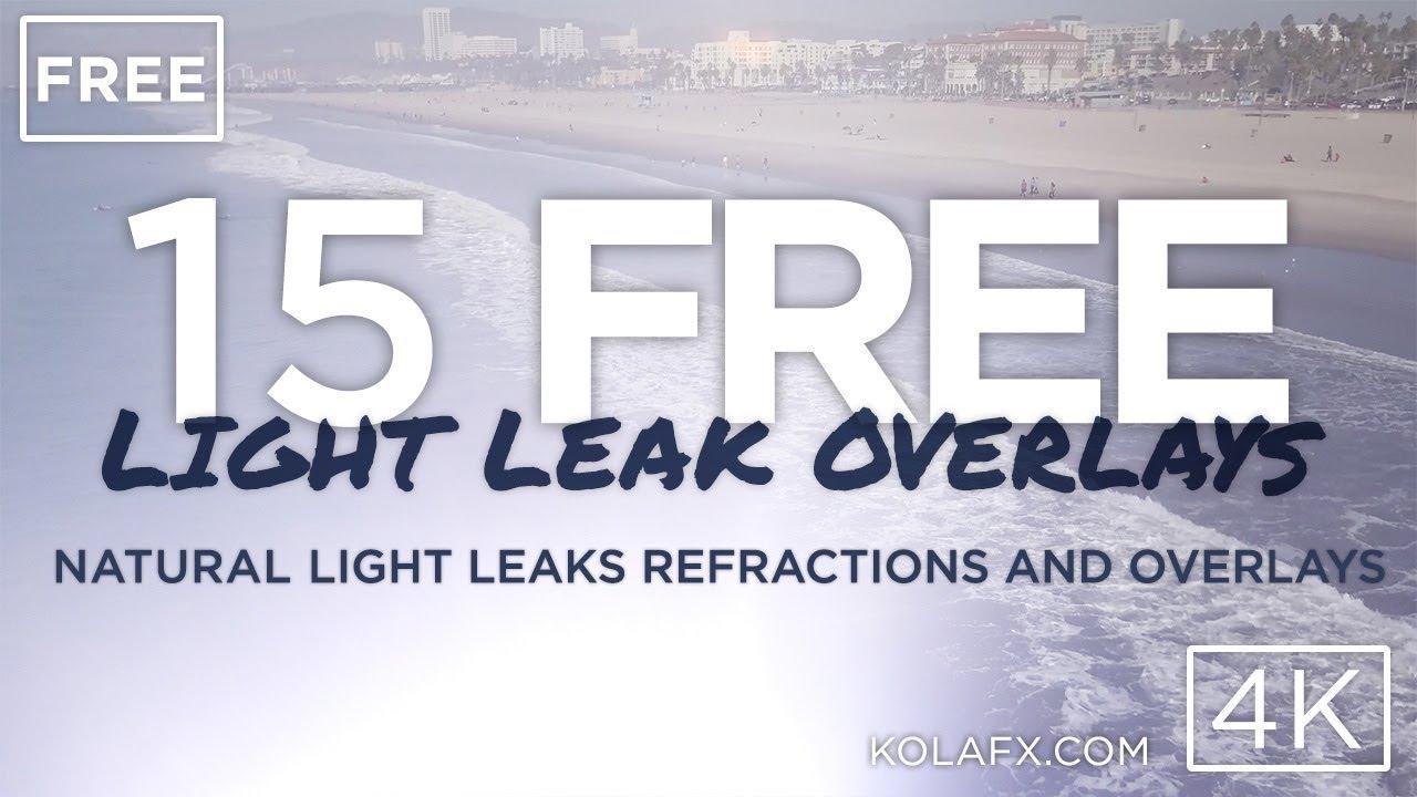 KOLA FX: 15 Free 4K Light Leaks, Lens Flares, Transitions for